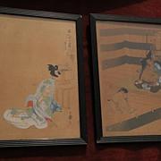 *PAIR* Japanese woodblock prints