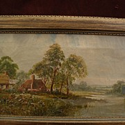 SAMUEL JOSEPH CLARK (1834-1912) country landscape in Sussex by well listed English artist
