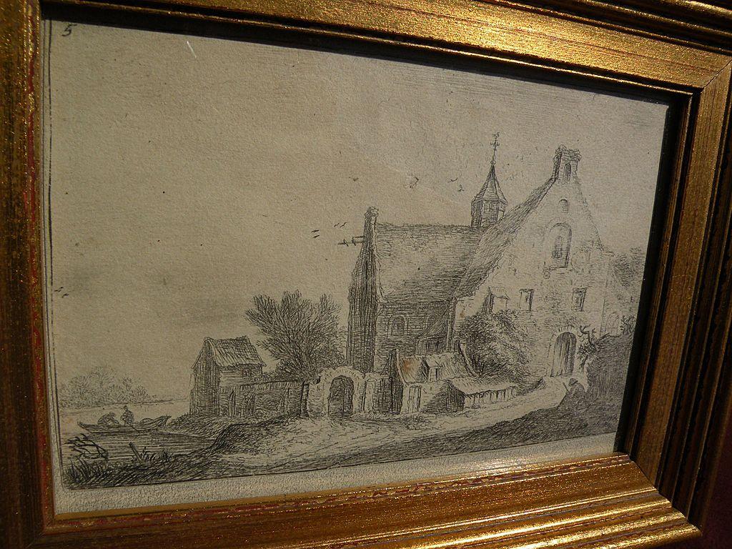 ANTHONIE WATERLOO (1609-1690) original landscape etching by noted 17th century Flanders artist