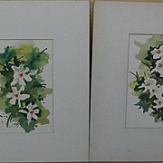 JAKE LEE (1915-1991) **four** California watercolor art signed floral still life paintings