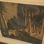 FRANK BRANGWYN (1867-1956) large etching by important English artist