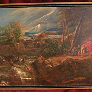 Old master Flemish art 18th century copy of famous Rubens museum painting