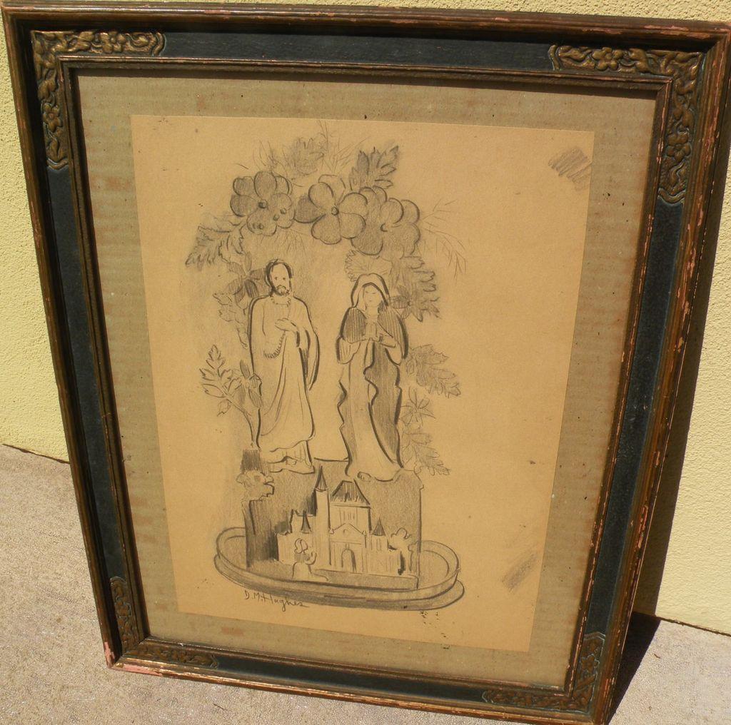 DAISY MARGUERITE HUGHES (1882-1968) whimsical pencil sketch
