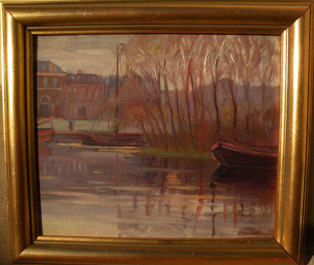 CAMILLO (CARL) BROCKELMANN (1883-1963) Austrian art fine early impressionist landscape painting dated 1913