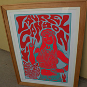 """JERMAINE ROGERS entertainment memorabilia 2006 signed numbered limited edition silkscreen print """"Laurel Canyon"""""""