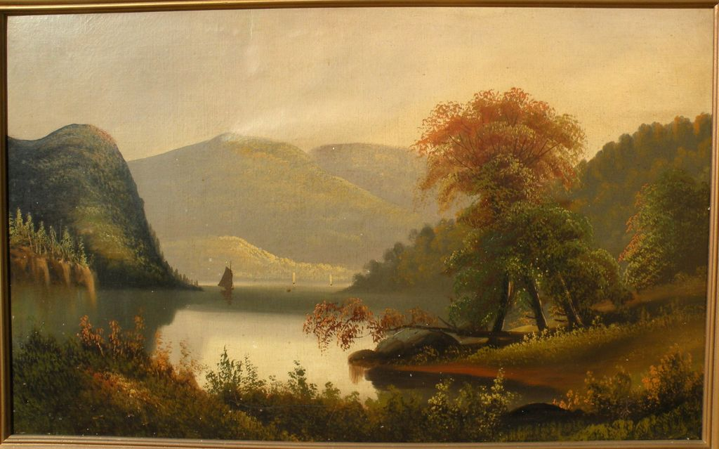 Hudson River School luminous 19th century American painting