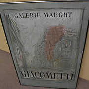 ALBERTO GIACOMETTI (1901-1966) original lithograph poster for Galerie Maeght exhibition 1954