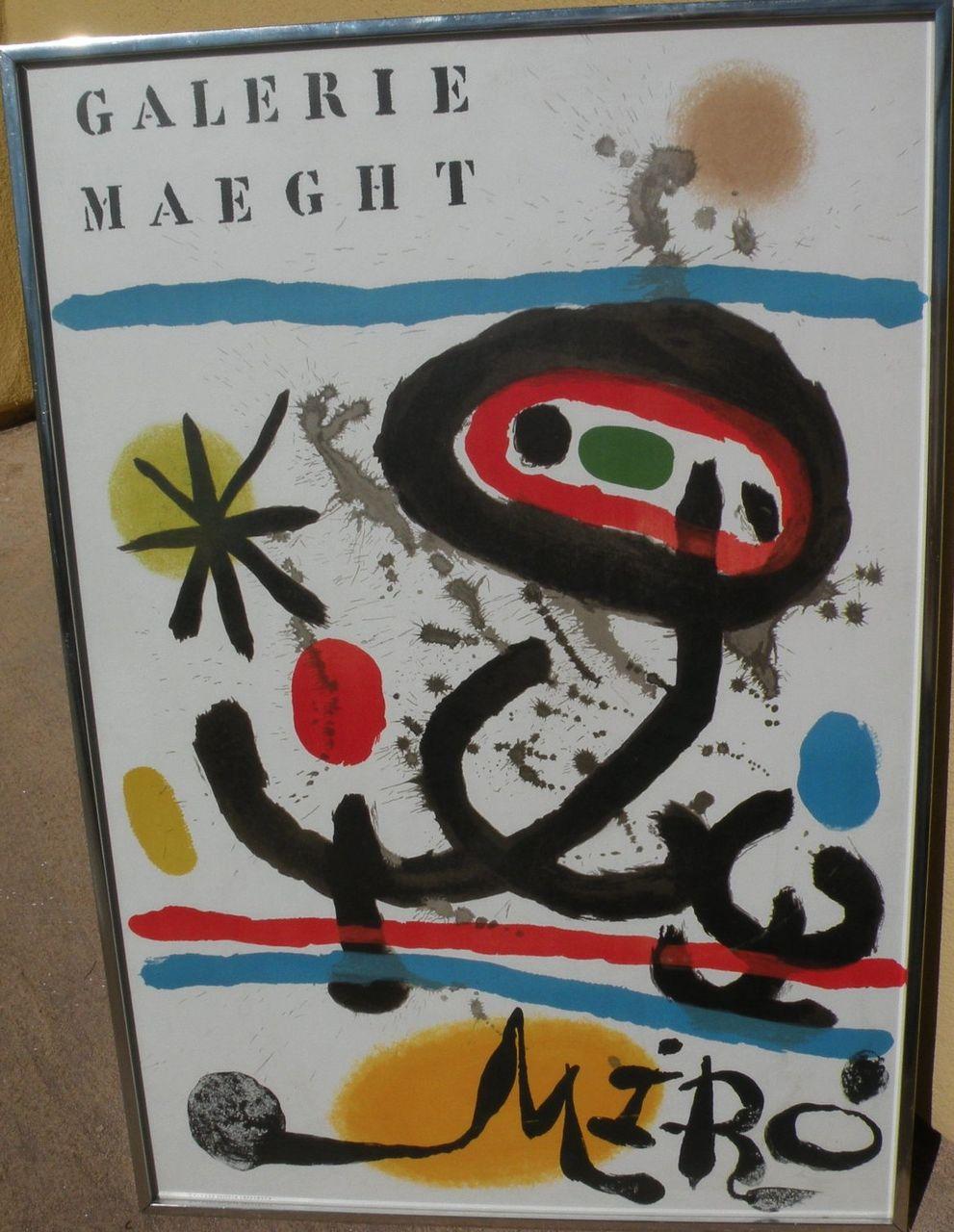 JOAN MIRO (1893-1983) original Galerie Maeght lithograph print