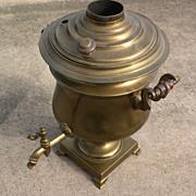 Russian antique brass samovar circa 1900