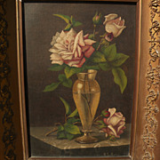 BARTON STONE HAYS (1826-1914) fine American art still life painting by the teacher of William