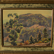 JOE WAANO-GANO (1906-1982) California plein air mountain landscape by noted artist of Native American heritage