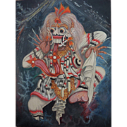 Indonesian or Chinese art contemporary painting of traditional dancer