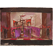 Original stage design drawing possibly by Eugene Berman (1899-1972)