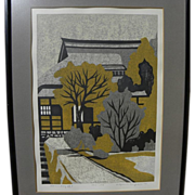 KIYOSHI NAGAI (1911-1984) pencil signed limited edition woodblock print by noted Japanese prin