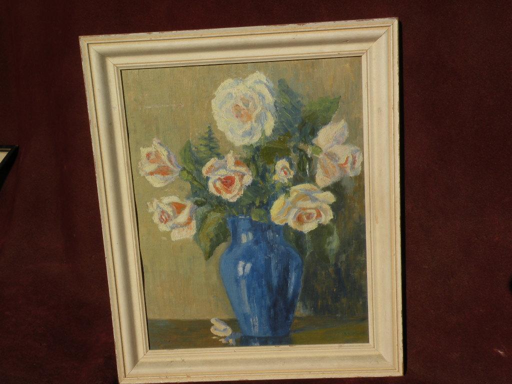 BERTHA CORSON DAY BATES (1875-1968) still life painting, illustrator, student of Howard Pyle