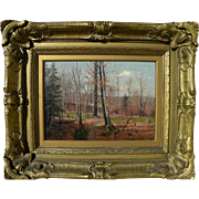 DUBOIS FENELON HASBROUCK (1860-1934) Impressionist November landscape painting by well known A
