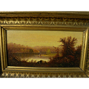 SALE PENDING Hudson River School luminism 19th century American landscape painting