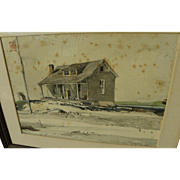 EARL HORTER (1881-1940) original watercolor painting by noted American artist