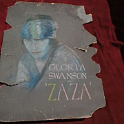 GLORIA SWANSON Hollywood memorabilia 1924 ZAZA painting original pastel