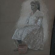 ADELE WATSON (1873-1947) California art color figure drawing