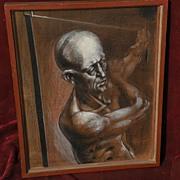 ROBERT SPRINGFELS (1911-1984) 20th century figural art mixed media drawing listed artist