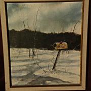THOMAS A. DE DECKER (1951-) Contemporary western American art winter landscape painting