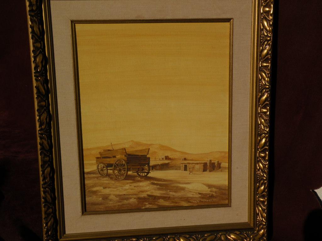 GARY NIBLETT (1943-) Contemporary western American cowboy art tempera painting