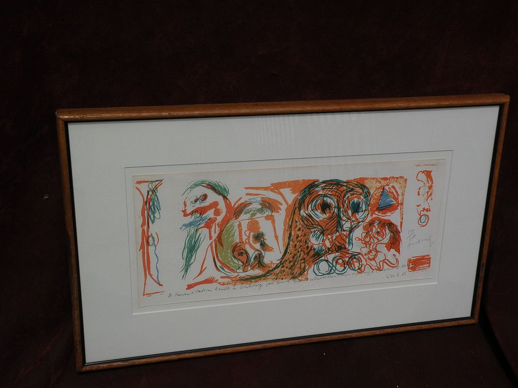 PIERRE ALECHINSKY (1927-) CoBra post war modern art major artist signed numbered limited edtion lithograph print