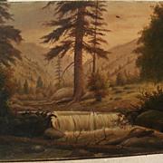 JESSE B. RADWAY (1826-c.1905) scarce listed early California and Kansas painter Colorado mount
