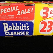 Vintage 1950 Babbitt's Cleanser in Original Packaging