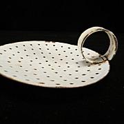 Vintage White Enamel Cream Skimmer