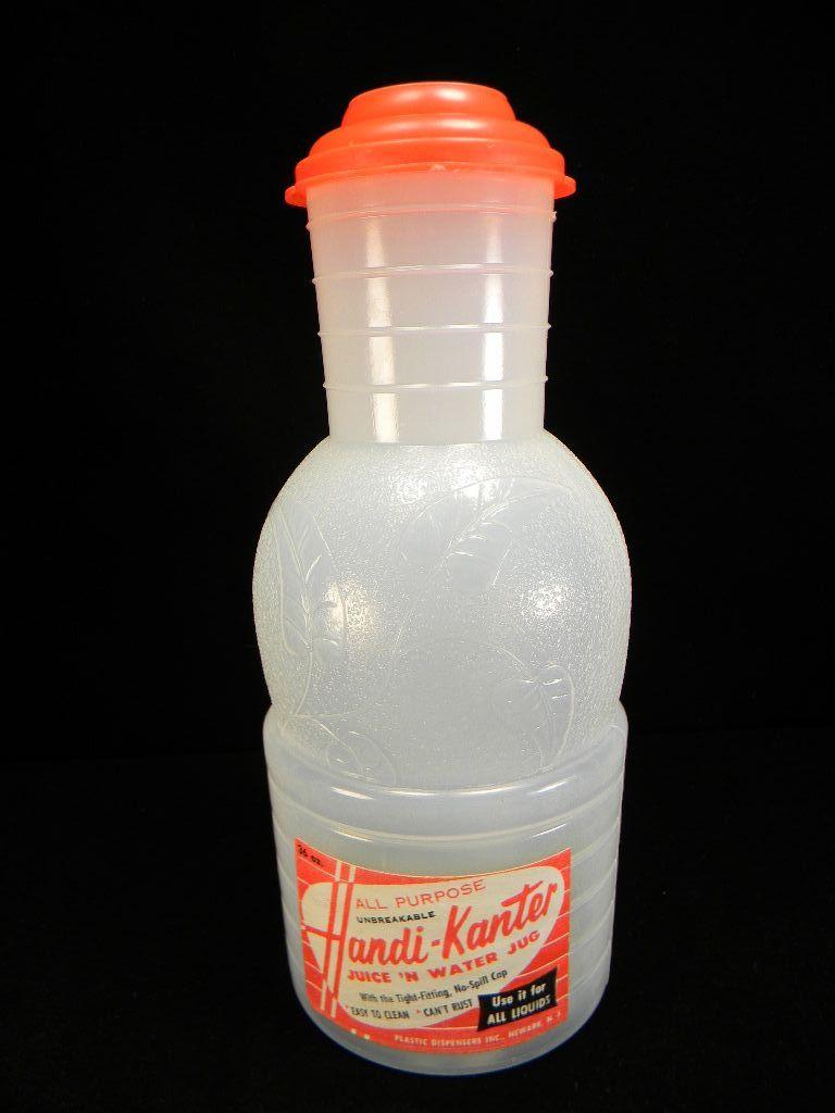 Vintage 1950's - 1960's Handi-Kanter Juice 'n Water Jug with Original Label