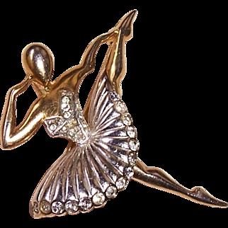 Vintage Hallmarked Marcel Boucher Phrygian Cap Ballet of Jewels Ballerina Dancer Rhinestone Pin Brooch