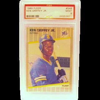 SALE 1989 Fleer #548  Ken Griffey Jr. Rookie card  PSA graded  Mint 9  #24553671
