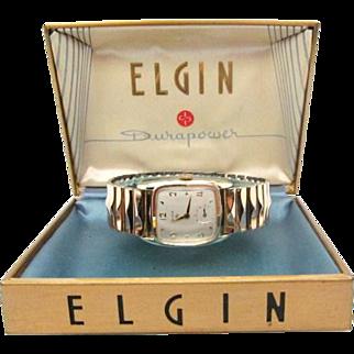 SALE Vintage 1954 Mens Elgin Sinclair model original case MUST SEE MINTY!!!