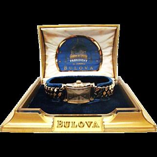 SALE Vintage 1952 Mens Bulova President model original case MUST NEAR MINT!!