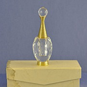 Sparkly! Vintage, Italian, Cut Crystal, Perfume / Scent Bottle in Original, Silk Lined, Fitted Box