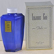 """Fantastic! American, Circa 1929, Art Deco Style, """"Toujours Gaie"""" by Armand Duval, After Bath Body/Talc Powder Bottle/Jar with Original, Fitted Box"""