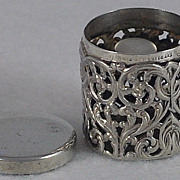 Circa 1900, American, Sterling Silver, Filigree Thimble Holder / Case by Unger Bros.