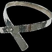 Alfred Karram - 1960s Modernist - New York City - Sterling Silver Collar Necklace
