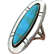 Frank Patania Sr - Turquoise and Sterling - Ring
