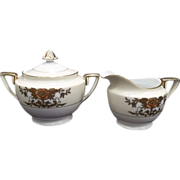 Noritake 42200 China Sugar & Creamer Set