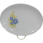 Fire King Forget Me Not Platter
