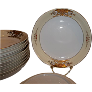 Vintage Noritake China 42200 Soup Bowls