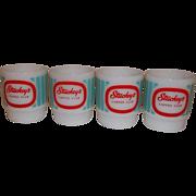 Fire King RARE – 4 Stuckey's Mugs