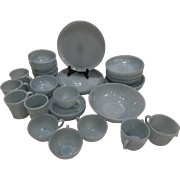 RARE Turquoise 35 Pc Fire King (4) 8 Pc Place Settings