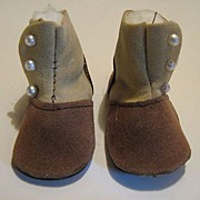 Vintage hand made doll shoes