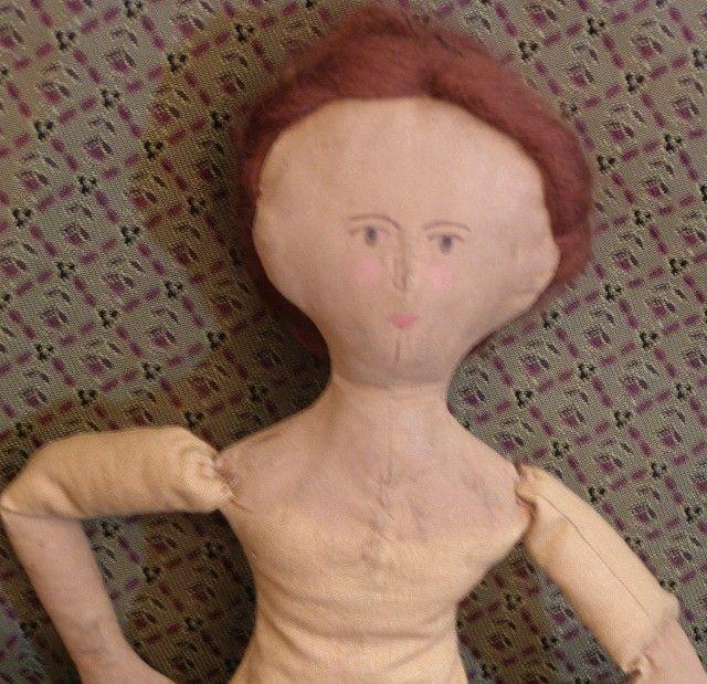 Wonderful vintage primitive cloth doll
