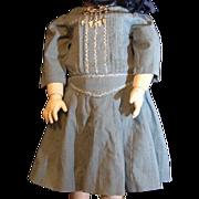 Wonderful vintage blue doll dress