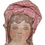 Adorable primitive Lithograph doll